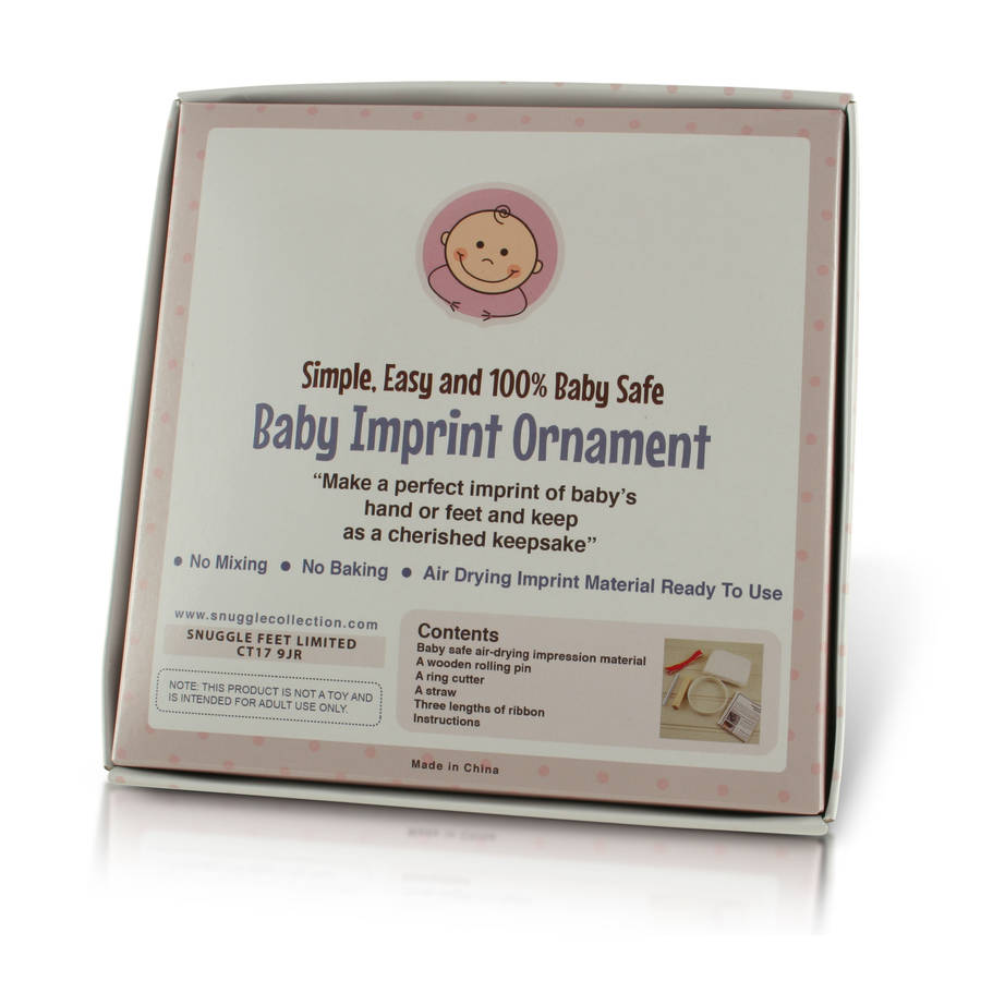 Baby Ornament Imprint Hand Or Foot Print Casting Kit By