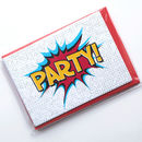 Superhero Party Invitations