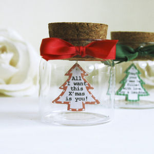 Christmas Message In A Bottle - decorative accessories