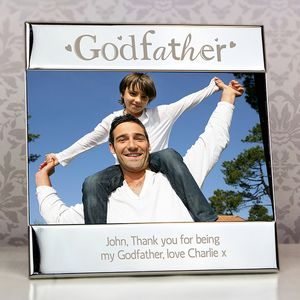 Silver Godfather Personalised Picture Frame - personalised
