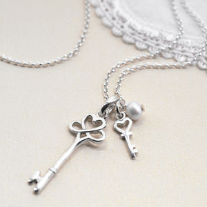 Sterling Silver Key To My Heart Necklace - necklaces & pendants