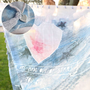 'We Are Made Out Of Stars' Constellation Heart Scarf