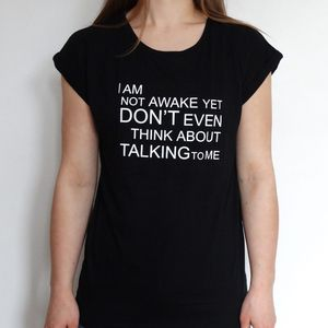Not Awake Womens T Shirt