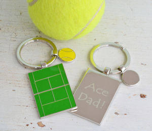 Personalised Tennis Court Keyring