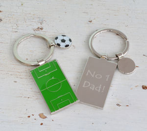 Personalised Football Pitch Keyring