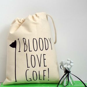 'I Bloody Love Golf' Golf Bag - gifts for golfers
