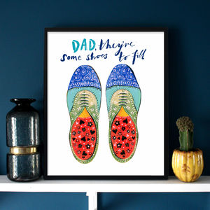 Dad Brogues Colour Print