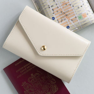 Leather Passport Holder - gifts for her