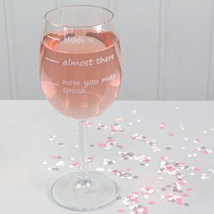 Engraved 'Don't Speak' Wine Glass - 30th birthday gifts