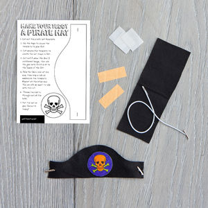 Make Your Teddy A Pirate Hat Kit - wedding day activities