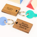 'Inspire Me' Father's Day Quote Key Ring