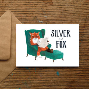 'Silver Fox' Card - retirement cards