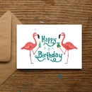 'Happy Birthday' Flamingos