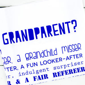 'What Is A Grandparent?' Poem Tea Towel