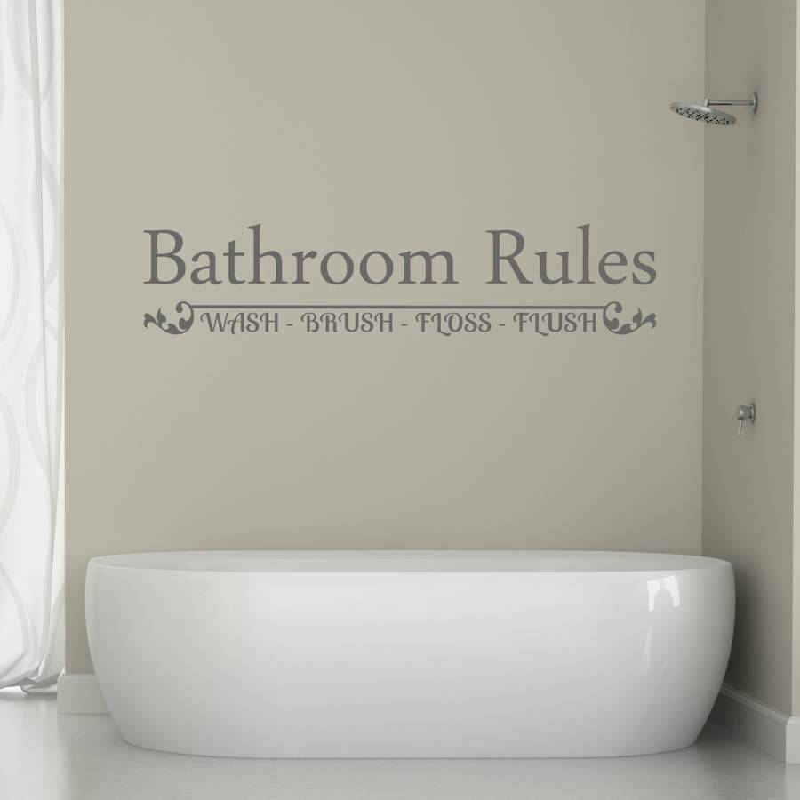 Great Bathroom Rules Wall Sticker Part 12