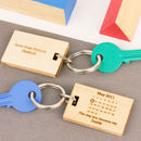 'The Day You Became My..' Maple Wood Keyring