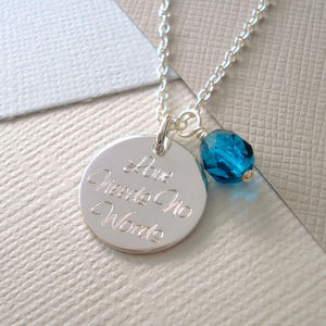 Personalised 'Your Words' Necklace - necklaces & pendants