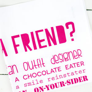 'What Is A Friend?' Poem Tea Towel - gifts for friends