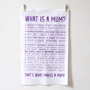 'What Is A Mum?' Poem Tea Towel - view all sale items