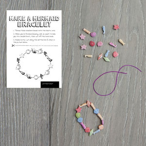 Make A Mermaid Bracelet Kit - wedding day activities