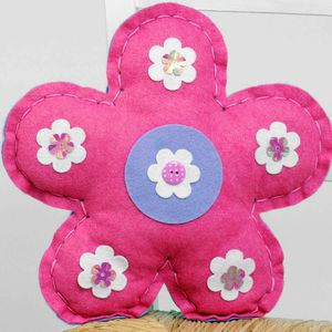 Felt Flower Craft Sewing Kit Pink Birthday Gift - sewing & knitting