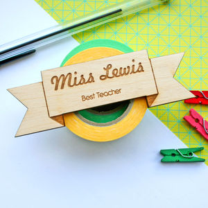 Personalised Best Teacher Badge - personalised jewellery