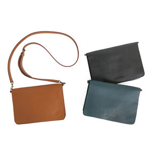 Bina Leather Clutch With Detachable Strap - cross-body bags