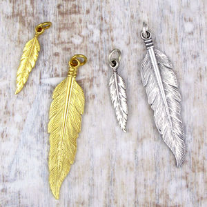Feather Charm - women's jewellery