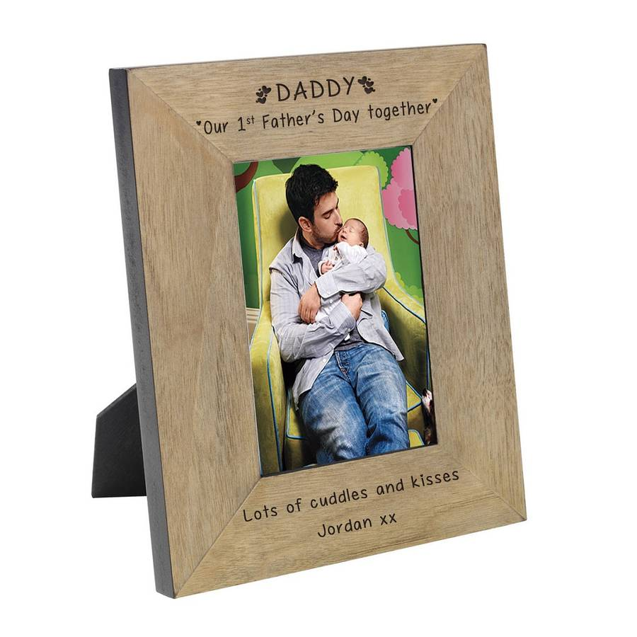1st father\'s day photo frame by babyfish | notonthehighstreet.com