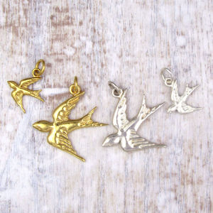 Swallow Charm - charm jewellery