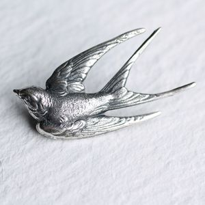 Silver Bird Brooch - pins & brooches