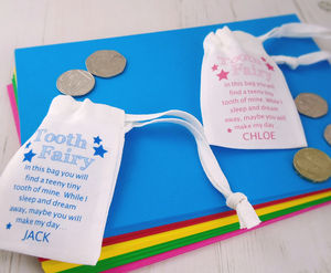 Personalised Tooth Fairy Bag - storage