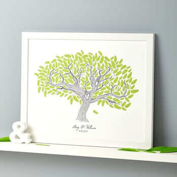 Personalised Wedding Tree Print