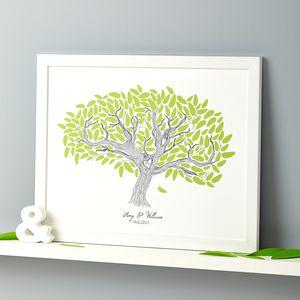 Personalised Wedding Tree Print