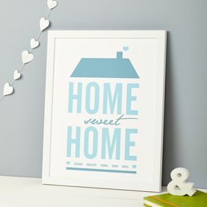 Personalised 'Home Sweet Home' Print