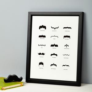 Famous Moustaches Print - beard & moustache gifts