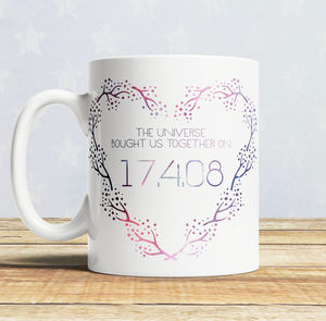 Couple's 'Special Date' Cosmic Galaxy Mug