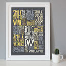Personalised 'Reasons To Smile' Positive Words Print