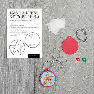Make A Medal For Your Teddy Kit - new in baby & child
