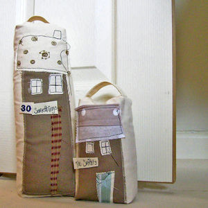 Personalised Tall Cottage Door Stop - office & study