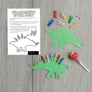 Stegosaurus Dinosaur Hunt Game - wedding day activities