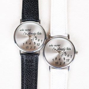 'Who Cares' Watch - jewellery sale