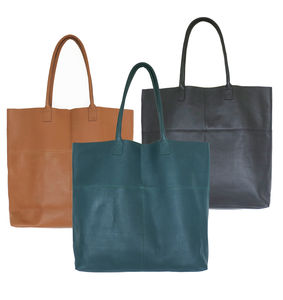 Mira Large Leather Tote Bag