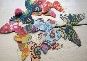 Birds And Butterflies Paper Garland