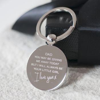 'Giving Me Away' Dad's Wedding Keyring