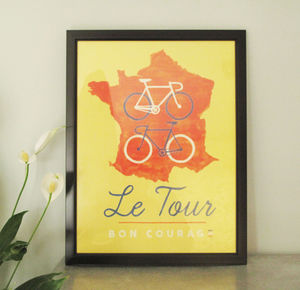 Tour De France Cycling Poster - activities & sports