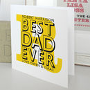Best Dad Ever Personalised Card