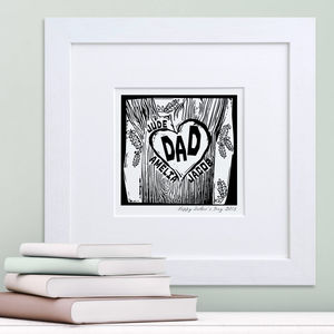 Family Woodcut Print - gifts for mothers