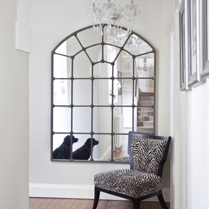 Large Metal Framed Window Mirror