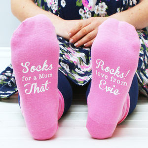 Personalised Women's 'You Rock' Socks